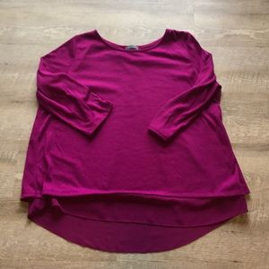 The Limited 3/4 sleeve magenta top
